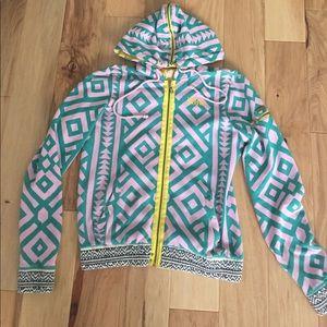 Billabong tribal aztec zip up hoodie