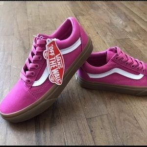 79cfb41ec6e6 Vans Shoes - Vans Old Skool Light Gum Raspberry Pink Sk8 Sz 5.5