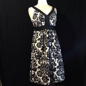 Loft Satiny Floral Dress