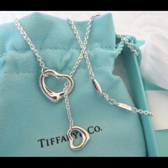e51199ffc Tiffany & Co. Jewelry | Tiffany Co Elsa Peretti Open Heart Lariat ...