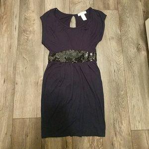Sequin Belt Dress