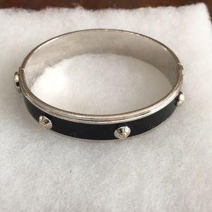 Henri Bendel Jewelry - Henri Bendel Black and Silver Cuff