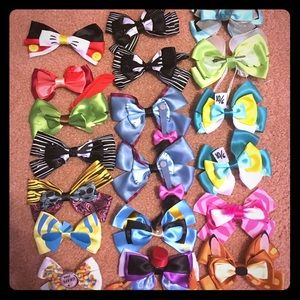 Hot topic Disney hair bows (read description)