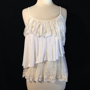 American Rag Boho Style Antiqued Ruffles and Lace