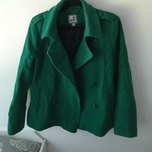 Kelly Green JCP Pea coat