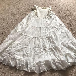 Motherhood Maternity long white skirt