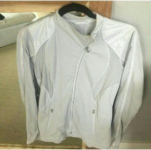 Lululemon grey and white zip up