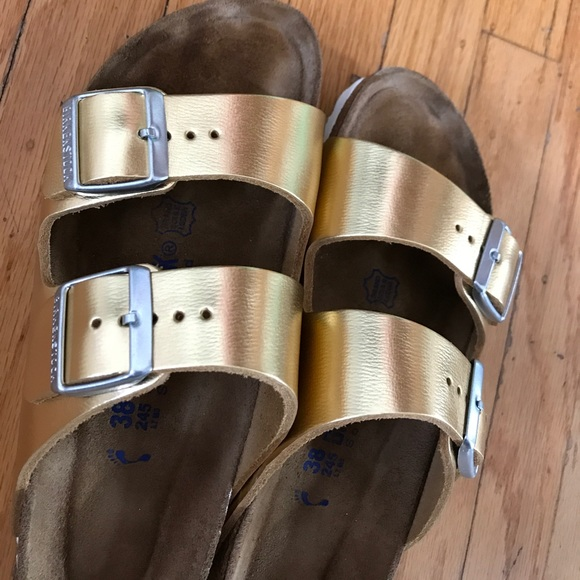 Birkenstock Shoes - Gold Birkenstocks