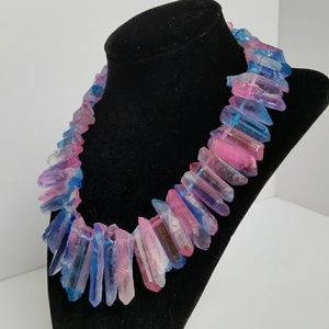 Jewelry - Crystal Quartz Statement Piece Necklace