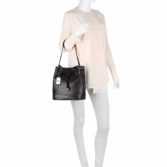 2aca0cb9d6ce Ralph Lauren Tate Black Leather Bucket Handbag. M 59adcbb07fab3ae9c0009cfa
