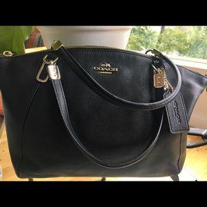 f2e71a5049 ... where to buy coach bags coach small kelsey black cross body and handbag  3057c 1e563