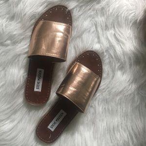 Steve Madden Copper Slip On Sandals Size 7