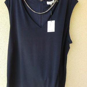 Calvin Klein Navy Blue Sleeveless Top 2X NWT