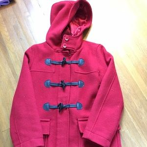 Gap wool red peacoat. Size XL. Girls
