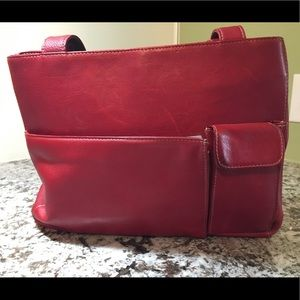 Wilsons Leather, red leather tote