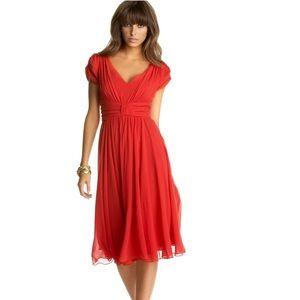 NWOT. Suzi Chin empire waist she Chiffon dress