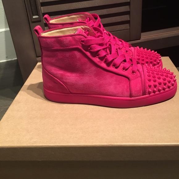 pink louboutin sneakers