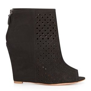Rebecca Minkoff Perforated Wedge Booties