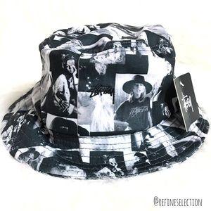Stussy Love Lura Black And White Bucket Hat