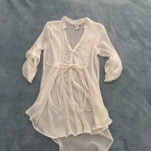 American Rag, Ivory Sheer tunic top