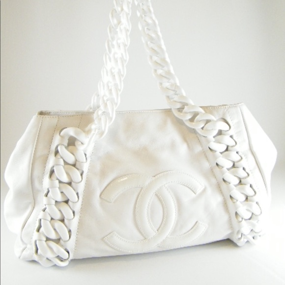 e74d22690683 CHANEL Handbags - CHANEL RHODOID CALFSKIN MODERN CHAIN LARGE TOTE