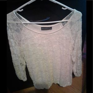 Metaphor white lace top