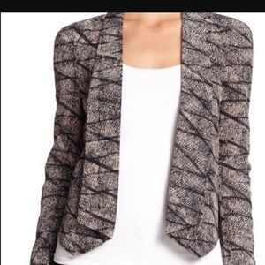 Rebecca minkoff silk blazer blush black pattern
