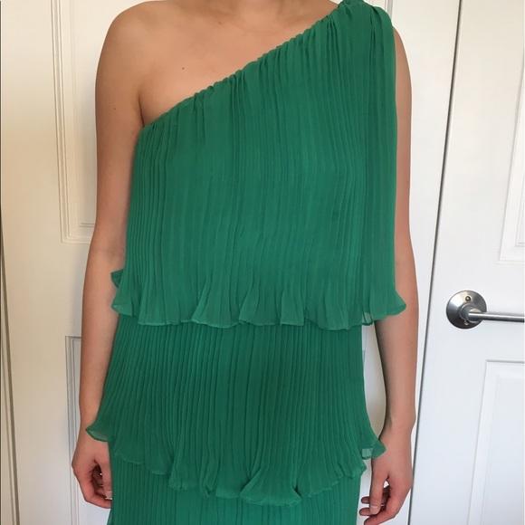Xs Emerald Green One Shoulder Dress