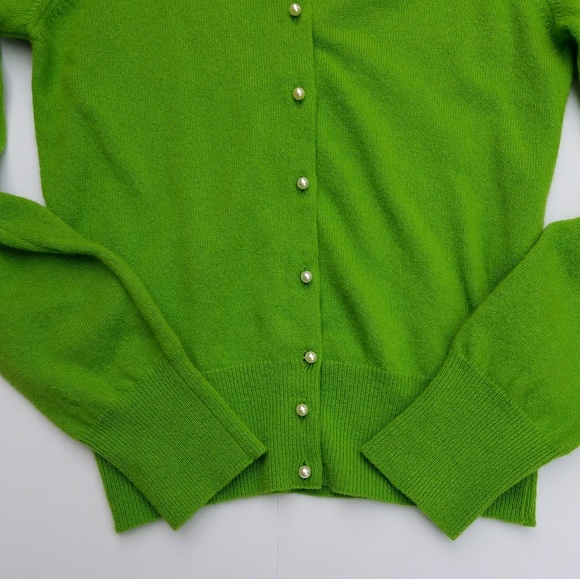 Benetton Sweaters - Vintage Benetton Green Cardigan With Pearl Buttons