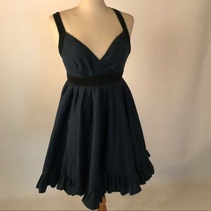 Ted Baker teal and black tea party dress