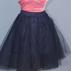 Dresses & Skirts - Navy Tulle Ballerina Skirt