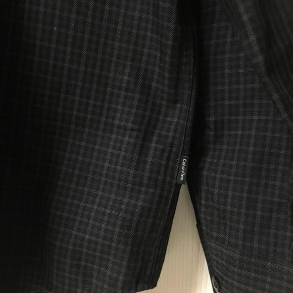 Calvin Klein Shirts - Calvin Klein Black Plaid Long Sleeve Button Down