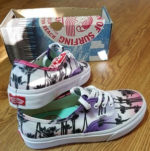New US open of surfing Vans pink sunset NWT
