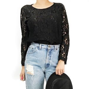 Dvf lace black top