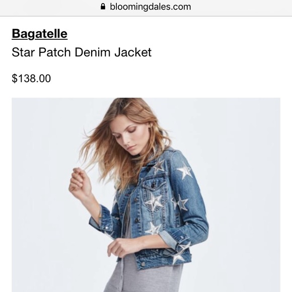 6bf6860440a3 Nasty Gal Jackets & Coats | Bagatelle Silver Star Denim Jacket ...
