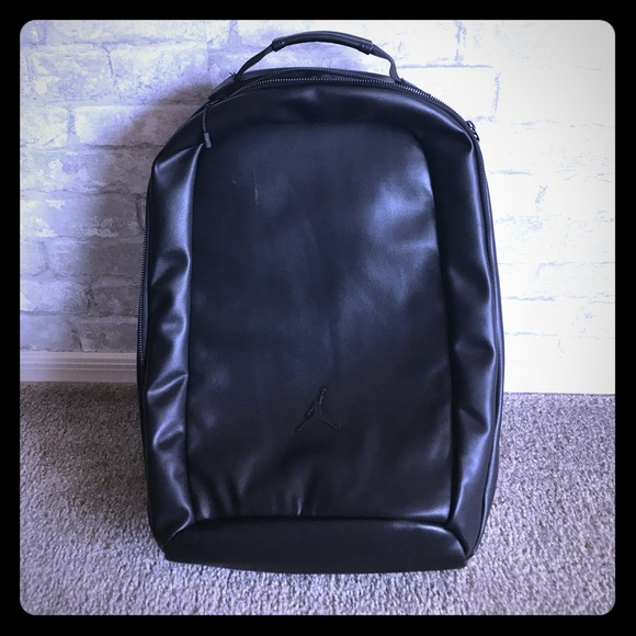 aed4417f2a3 Jordan Black Leather Backpack NWT