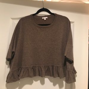 Minnie Rose Cashmere cropped sweater