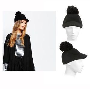 Wool riding hat with Pom Pom