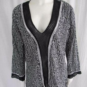 La Blanca Swim Cover Up Tunic Dress Crochet NEW
