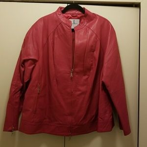 🔖NWOT Jessica London Leather Jacket Size 24W