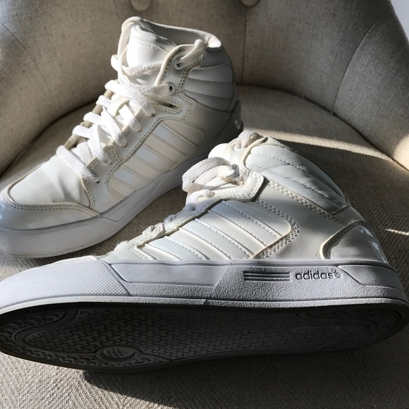 ff0db5034 ... reduced adidas neo high tops white holographic sneakers fc95e 65bba