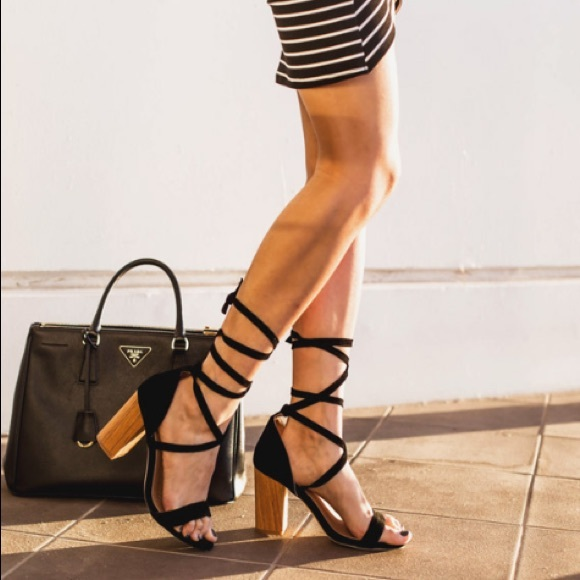 raye shoes | the label layla black suede ankle strap heels | poshmark