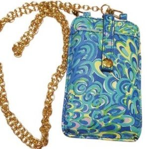 Lilly Pulitzer Leather Phone Crossbody Bag RARE