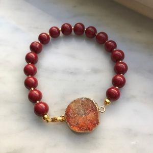 Jewelry - Red Druzy Bracelet