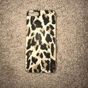 J. Crew leopard print iPhone case