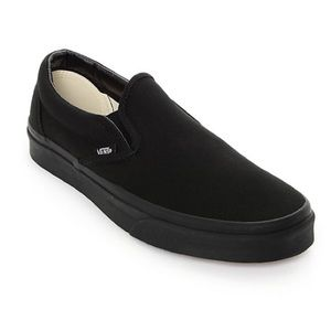 Vans Shoes | Black On Black Slip On Non