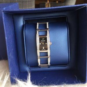SWAROVSKI Accessories - SWAROVSKI Indira Black Dial Quartz Ladies Watch