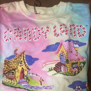 Candy land top Pastel Kawaii tye dye oversized