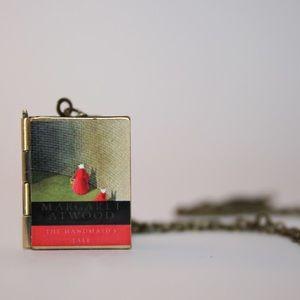 Jewelry - Handmaid's Tale Literary Locket Book Necklace