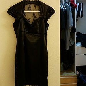 Dresses & Skirts - Sweetheart cut black silk dress